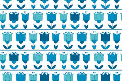 Vivid blue color abstract tulip flower motif. Royalty Free Stock Photo
