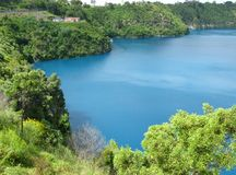 Vivid blue lake Stock Image
