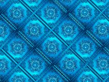 Vivid Blue Ornamental Pattern Texture Background Royalty Free Stock Photography