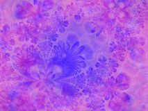 Vivid Blue Pink Flower Texture. A background texture in blue and purple with lots of fine details royalty free stock images