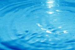 Vivid Blue Water Surface Stock Photography