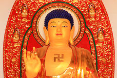 Vivid bodhisattva statue in a temple Royalty Free Stock Photography