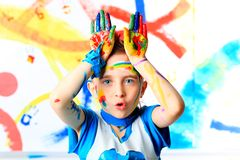 Vivid boy Royalty Free Stock Photography