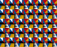 Vivid bright color retro style geometry pattern. Royalty Free Stock Photography