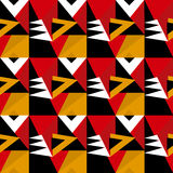 Vivid bright color retro style geometry pattern. Royalty Free Stock Images