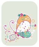 Vivid Butterfly Illustration Stock Images