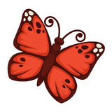Vivid butterfly with red wings Royalty Free Stock Images