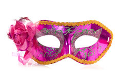 Vivid carnival mask. Over a white background Stock Photos