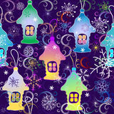 Vivid Christmas seamless pattern Stock Images