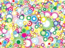 Vivid circles background Royalty Free Stock Images