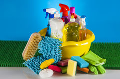 Vivid cleaning concept Royalty Free Stock Photography