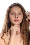 Vivid closeup portrait of a beautiful girl Royalty Free Stock Photography