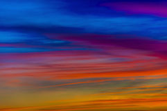 Vivid cloudscape. A shot of a cloudscape of extremely vivid sunset (only developed from RAW file Stock Photo