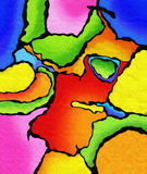 Vivid color abstract painting Stock Photos