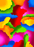 Vivid color abstract painting Royalty Free Stock Images