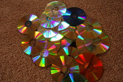 Vivid color of CD and DVD discs. Royalty Free Stock Image