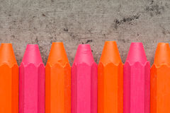 Vivid color crayons. On the old dirty background Stock Image