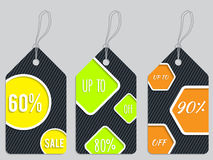 Vivid color discount labels Stock Image