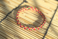 Vivid color hair rubber band Royalty Free Stock Images