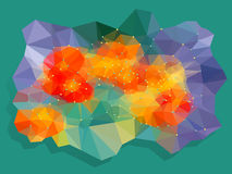 Vivid color polygonal background Stock Photography
