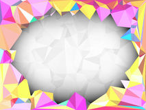 Vivid color polygonal background with space for adding text Stock Images