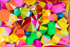 Vivid color polygonal background Stock Images