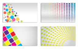 Vivid colored business set Royalty Free Stock Image