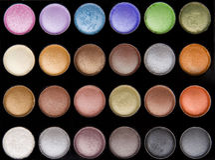 Vivid colored eye makeup Stock Photography