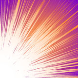 Vivid colorful background with starburst. Like motif. Abstract radial lines fading into background Stock Photography