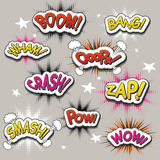 Vivid colorful comic sound effects set Royalty Free Stock Photography