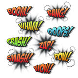 Vivid colorful comic sound effects set Stock Image