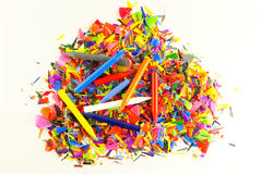 Vivid colorful crayons Royalty Free Stock Photo