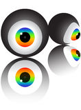 Vivid colorful eyeball Stock Photography