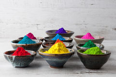 Vivid colorful Holi powder Royalty Free Stock Image