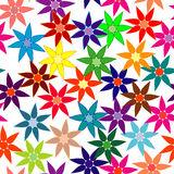 Vivid, colorful, repeating flower background Royalty Free Stock Image