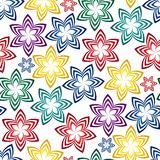 Seamless vivid pattern. Vivid colorful repeating flower seamless background Royalty Free Stock Images