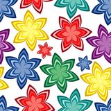 Seamless vivid pattern. Vivid colorful repeating flower seamless background Royalty Free Stock Photo
