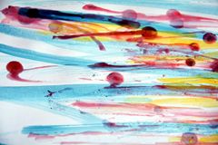 Vivid colorful wax abstract background Stock Photo