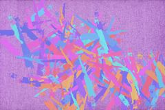 Vivid colorfull abstract painting background with brushstrokes Stock Image