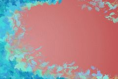 Vivid colorfull abstract painting background framed with brushstrokes Royalty Free Stock Photography