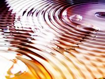 Vivid colors. Water ripples and colors abstract background Royalty Free Stock Image