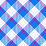 Vivid colors checkered pattern diagonally oriented seamless tile. Blue white red checkered pattern diagonally oriented seamless tile Royalty Free Stock Images
