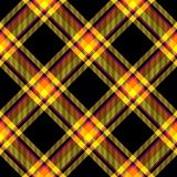 Vivid colors checkered pattern diagonally oriented seamless tile. Yellow red brown checkered pattern diagonally oriented seamless tile Stock Photography