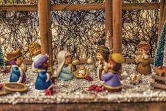 Vivid colors of Christmas Nativity scene Royalty Free Stock Photo
