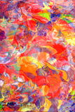 Vivid Colors Composing. Composing of two abstract paintings give as a result a swirling, moving composition of colors, sujitable for many purposes. Much room for Stock Image
