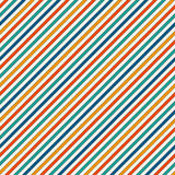 Vivid colors diagonal stripes abstract background. Thin slanting line wallpaper. Seamless pattern with classic motif. Royalty Free Stock Photo