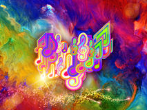 Vivid colors of music Stock Image
