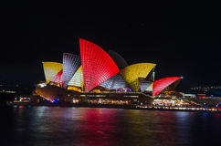 Vivid Colors on Opera House royalty free stock photos