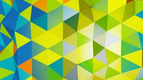 Vivid colors polygonal chaotic shape abstract 3D rendering Stock Photography