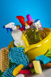 Vivid colors in washing concept Royalty Free Stock Photography